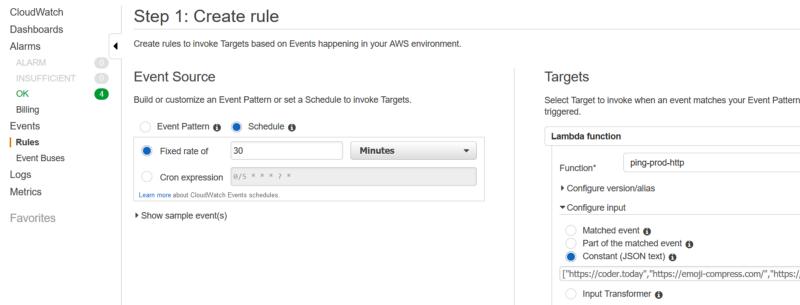 Almost free server monitoring with AWS Lambda - Golang, Docker