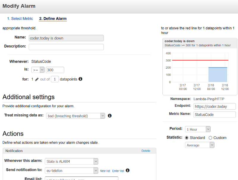 Almost free server monitoring with AWS Lambda - Golang